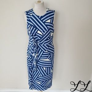 Ivanka Trump Dress Sleeveless Shift Straight Blue